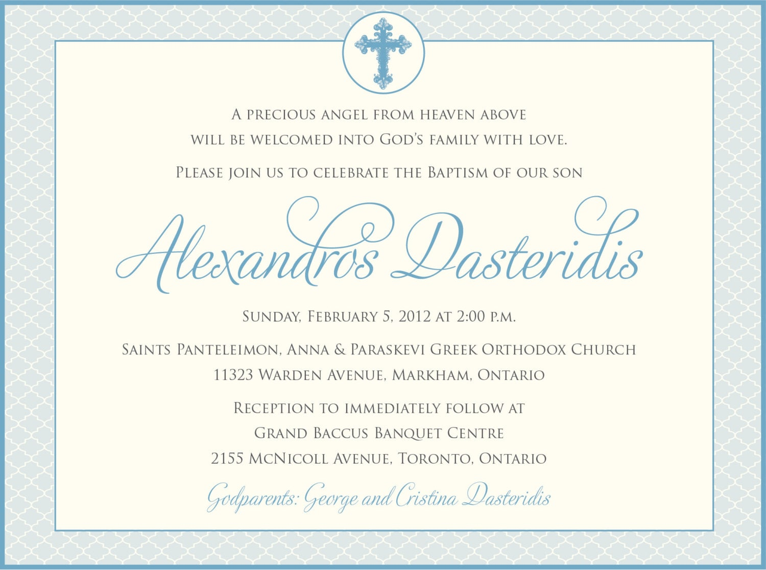 Printable Baptism Invitation- Boys Baptism Invitation - Baby ...