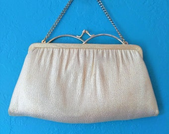 Vintage Gold Lame' Evening Bag