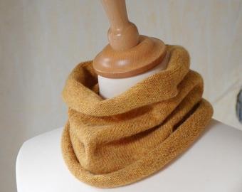 Lambswool Cowl, Neckwarmer, Yellow