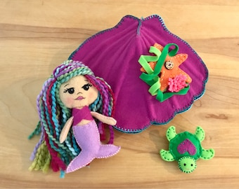Imaginative Toys For Girls : Mermaid seashellwaldorf playstarfishseahorseimaginative