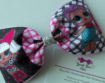 Giant Hair Bow, Large LOL Bow, Hair Slide, Hair Accessory, Gifts for Kids, Kids Fashion, LOL Surprise, Party Bag Filler