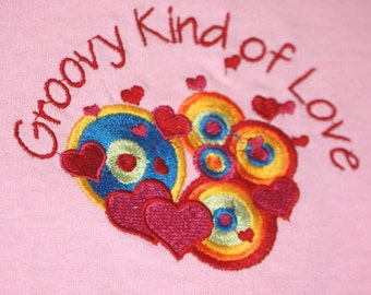 GreatStitch Groovy Kind Of Love Kids Tshirt