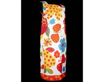 Size 10 Summer Dress - Cutesy Craftsy 60s Sun Dress - Butterflies Cherries Pears Novelty Print Cotton - 1960s Deadstock - Bust 37 - 41213
