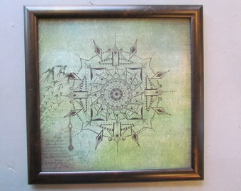 "Mandala - Original Artwork - 12"" x 12"" Framed"