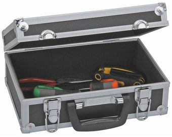 Brand New Aluminum Storage Box Portable Organizer Carrying Case for electronics tools personal items and more