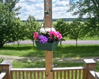Hanging Flower Pot Planter, Indoor Hanging Planter,Hanging Plant,Wood hanging Planter, Patio Planter, Outdoor Planter, Wood Hanging Planter
