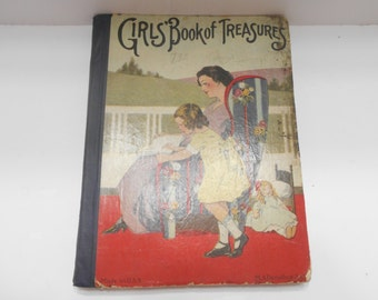 Vintage Girls' Book Of Treasures (19-F) M.A. Donohue & Co.
