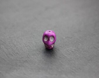 Purple color skull bead