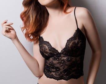 POLLUX  Black Lace    Panties  Lingerie Underwear