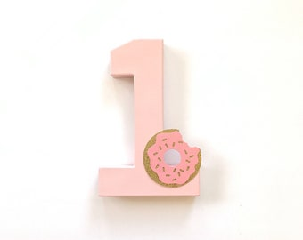 Donut Stand Up number-Cake Smash-Birthday-Party-Photo Prop-theme-Decorations-decor-donut grow up theme