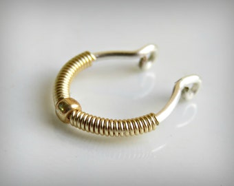 faux septum ring - fake septum hoop