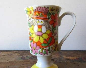 Vintage Kitty Kitty by Kathy K Pedestal Mug, Vintage Kitty Cat Mug, Vintage Cat Mug, Vintage Pedestal Mug, SALE