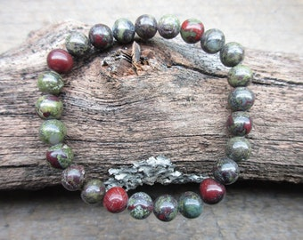 8 M/M Dragon's Blood Jasper Stretch Bracelet