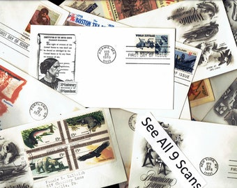 1970s US First Day Covers 12 different 9 Scans lot #USfdcl2