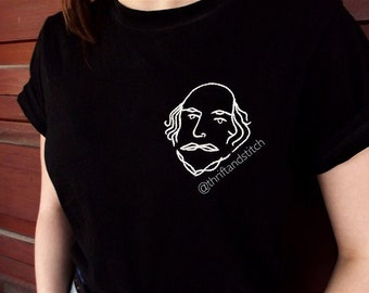 William Shakespeare Embroidered T-Shirt