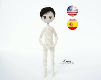 Pattern Doll Boy Steve, amigurumi crochet doll boy, crochet doll boy pattern, amugurumi pattern, pdf pattern
