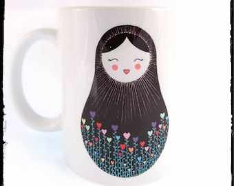 Folk Dolly - ceramic mug ***PRE ORDER ITEM***