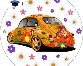 1 cabochon clear 30 mm Ladybug car theme
