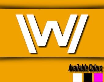 Vinyl Decal - Westworld Decal - Westworld Logo Decal