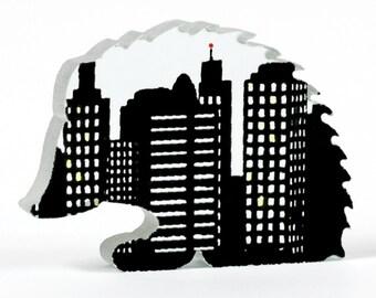 Urban Hedgehog Glass Sculpture