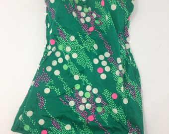 Vintage Green Polka Dot Bathing Suit