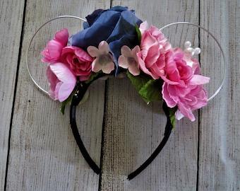 Wire Disney Ears | Light Up Mickey Ears | Minnie Ears | Floral Mouse Ears | Aurora Headband | Sleeping Beauty Ears | Disney Hidden Mickey