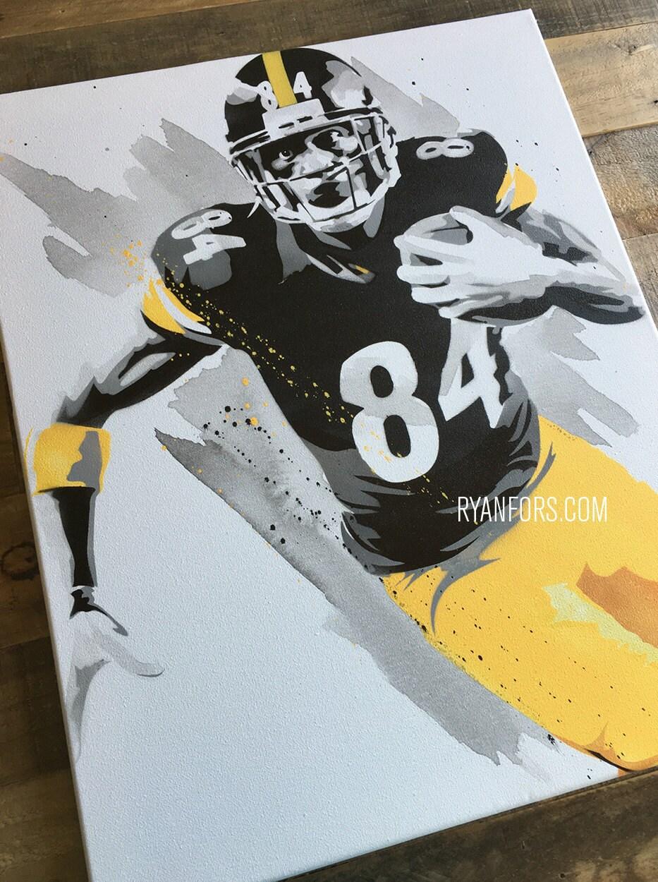 Los Acereros de Pittsburgh Antonio Brown pintura