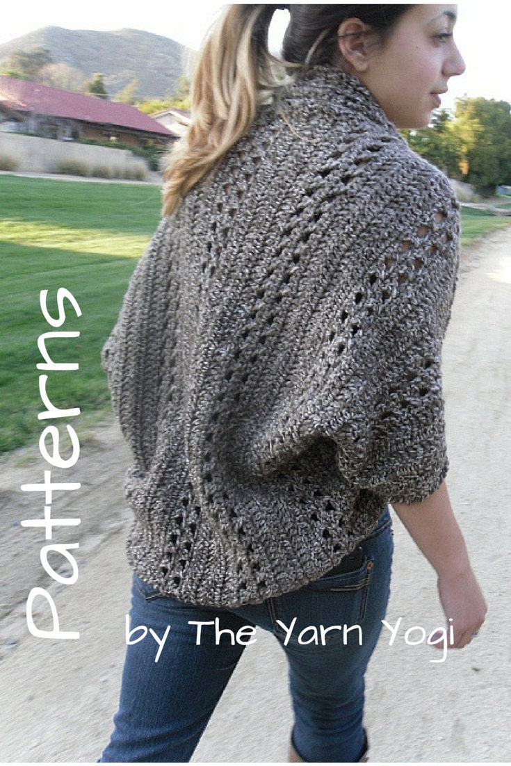 Crochet cardigan shrug pattern the x stitch shrug zoom bankloansurffo Gallery