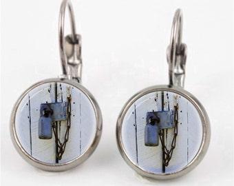 Rusty Padlock Earrings