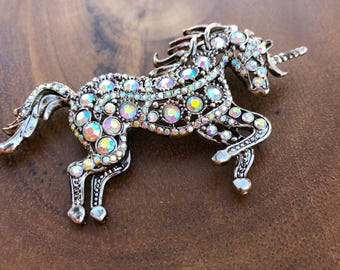 Rhinestone Unicorn Brooch, Unicorn Brooch , Unicorn Jewelry , Unicorn Accessories , Colorful Unicorn, Rainbows and Unicorns