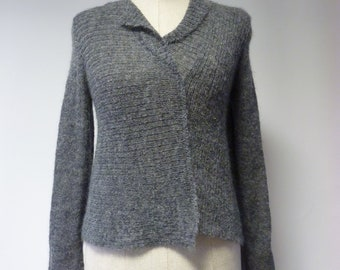 The hot price, grey mohair sweater, M size.