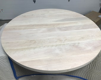 1 3/4 Inch Thick SUPER PLANK Maple Table Top | Sawmark Groove Table Top |  Thick Table Top | Plank Style Table Top | Farmhouse Table Top