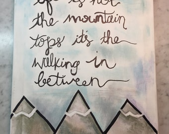ben rector quote on canvas