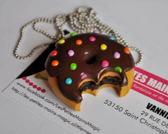 Gourmet long maxi doughnuts dots multicolored 4 cm