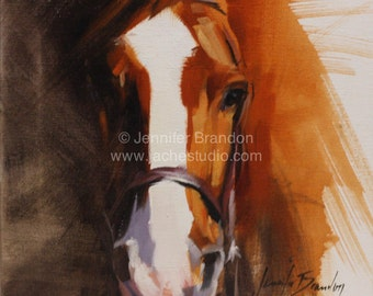 Horse Portrait - Oil Painting by Jennifer Hamby-Brandon - Jaché Studio