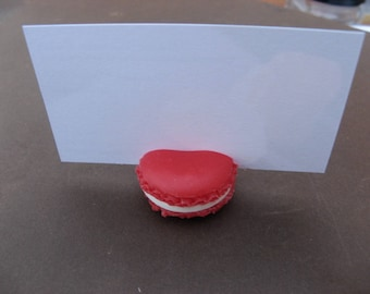 Macaroon brand red square 3.2 cm * 1