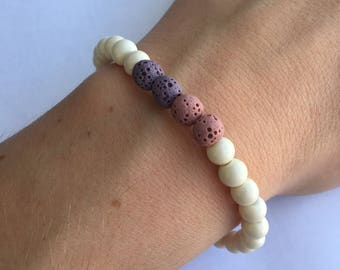 Purple Ombré I Stretch Beaded Bracelet