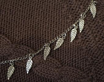 Woodland necklace - leaf necklace