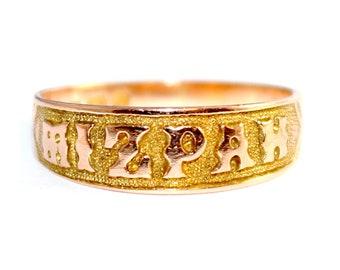 Victorian MIZPAH ring c.1885 - FREE WORLDWIDE Shipping