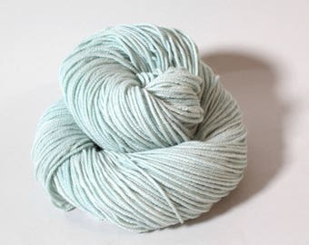"Hand dyed yarn Merino, Baby Alpaca, Silk ""Freshly Minted"" in Norah, DK weight"