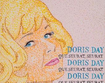 Que Seurat Seurat // Doris Day pun art - art print