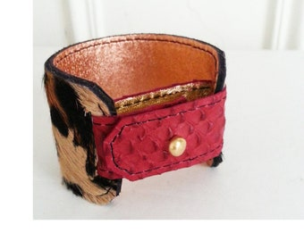 JULES Recycled leather bracelet