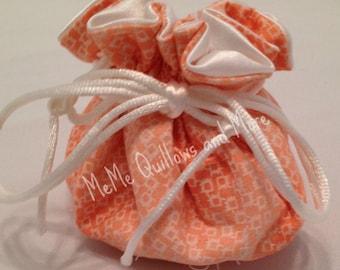 Peach Travel Jewelry Bag