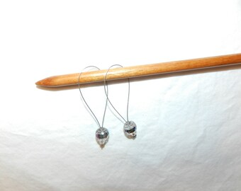 Knitting Stitch Markers - Clear Disco glass beaded