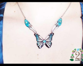 Butterfly and fairy wings necklace