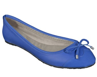 Foldable ballet flats - blue ballet flats, wedding flats, bridal party gifts, bridal flats, wedding shoes, bridesmaid gift, gift for women