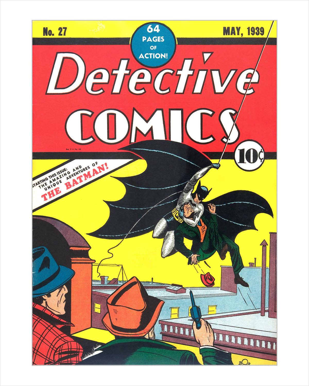 Book Cover Art Etsy : Batman comic book cover art print detective comics