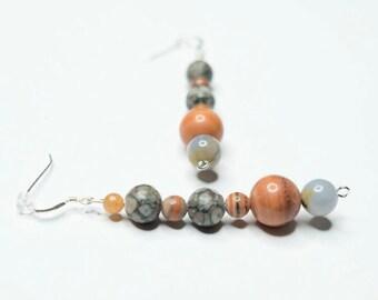 Chunky Boho Earrings, Gifts for Her, Dangle Earrings, Boho Earrings, Chunky Earrings, Statement Earrings, Unique Earrings, Fashion Jewelry