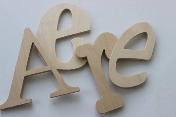 Unfinished Wooden Letters DIY Decorate Yourself Nursery