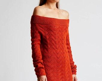 Alexandra Off Shoulder Alpaca Sweater